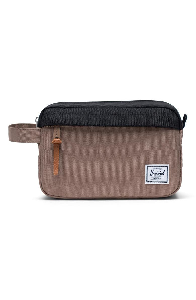 HERSCHEL SUPPLY CO. Chapter Toiletry Case, Main, color, PINE BARK/ BLACK