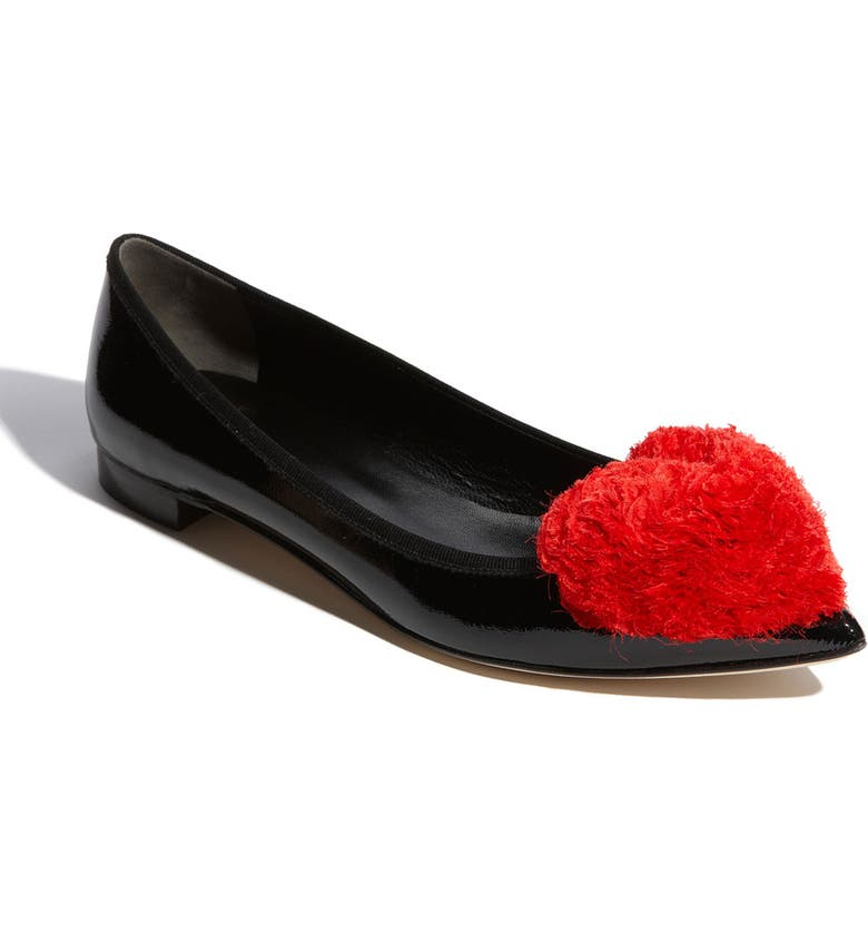 MOSCHINO Cheap & Chic Flat, Main, color, 001