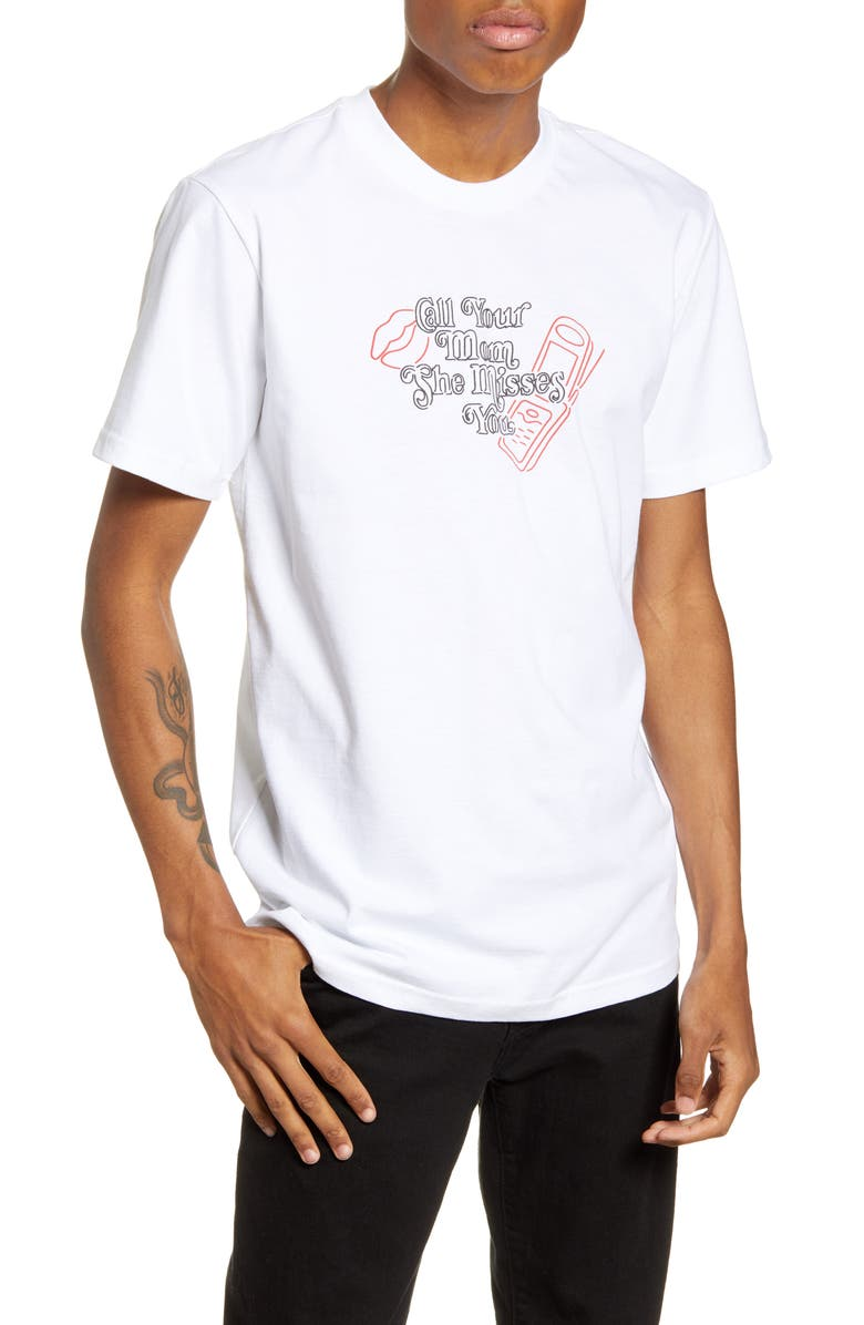 CHINATOWN MARKET Call Your Mom T-Shirt, Main, color, 100