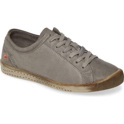 Softinos By Fly London Isla Distressed Sneaker - Grey