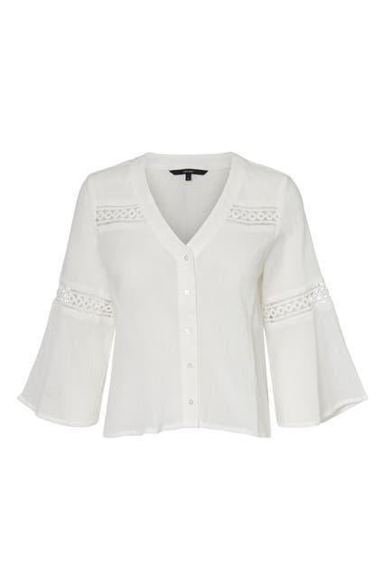 Image of VERO MODA Thyra 3/4 Woven Cropped Shirt