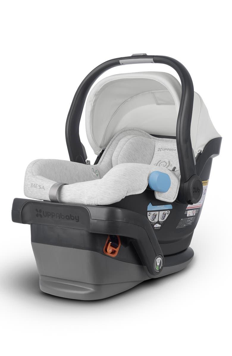 UPPABABY MESA 2018 Infant Car Seat, Main, color, BRYCE WHITE/ GREY MARL