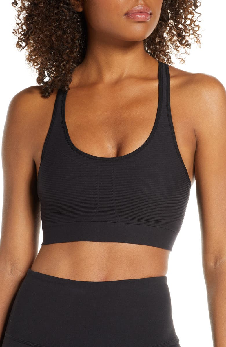 ZELLA BODY Endurance Sports Bra, Main, color, BLACK