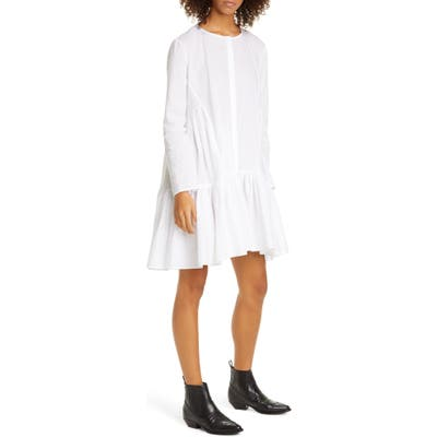 Merlette Martel Long Sleeve Cotton Tunic Dress, White