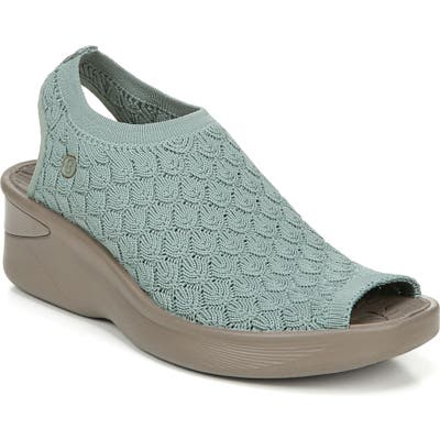 Bzees Secret Peep Toe Knit Sneaker, Blue