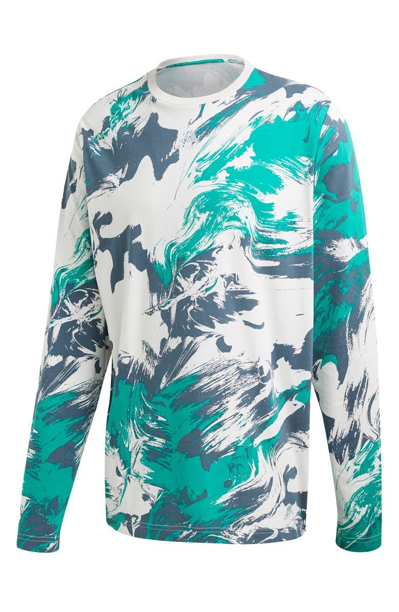 ADIDAS ID Print Long Sleeve T-Shirt, Main, color, 020