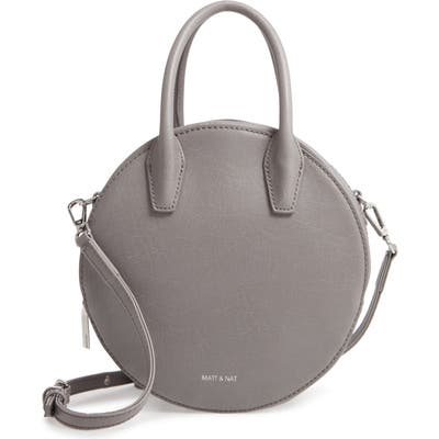 Matt & Nat Small Kate Circle Crossbody Bag - Grey