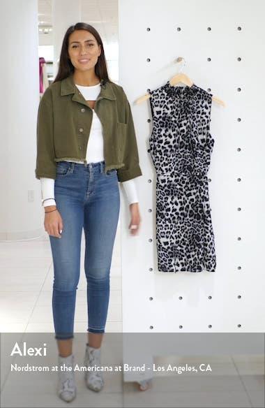 x City Safari Roselyn Weaver Smocked Mock Neck Dress, sales video thumbnail