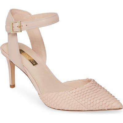 Louise Et Cie Kota Ankle Strap Pump- Pink