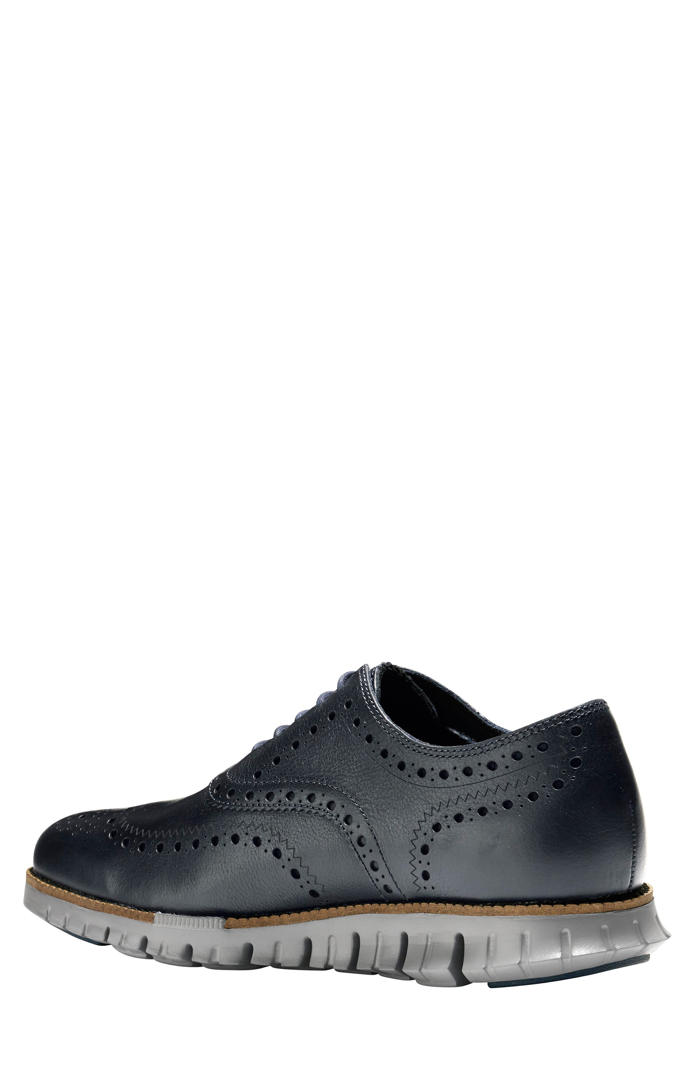 ,                             'ZeroGrand' Wingtip Oxford,                             Alternate thumbnail 2, color,                             NAVY INK LEATHER