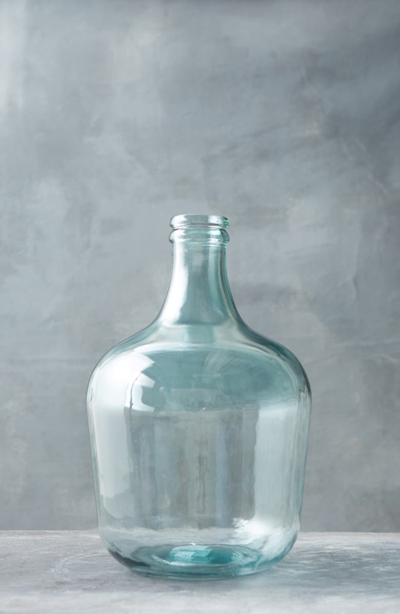 TERRAIN Extra Large Bottleneck Glass Vase, Main, color, CLEAR