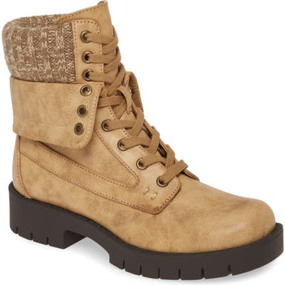 Mia Nicolas Combat Boot, Brown