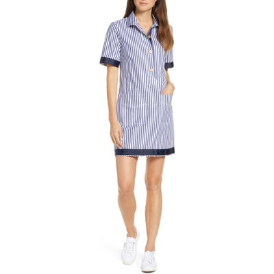 Petite 1901 Stripe Shift Dress, Blue