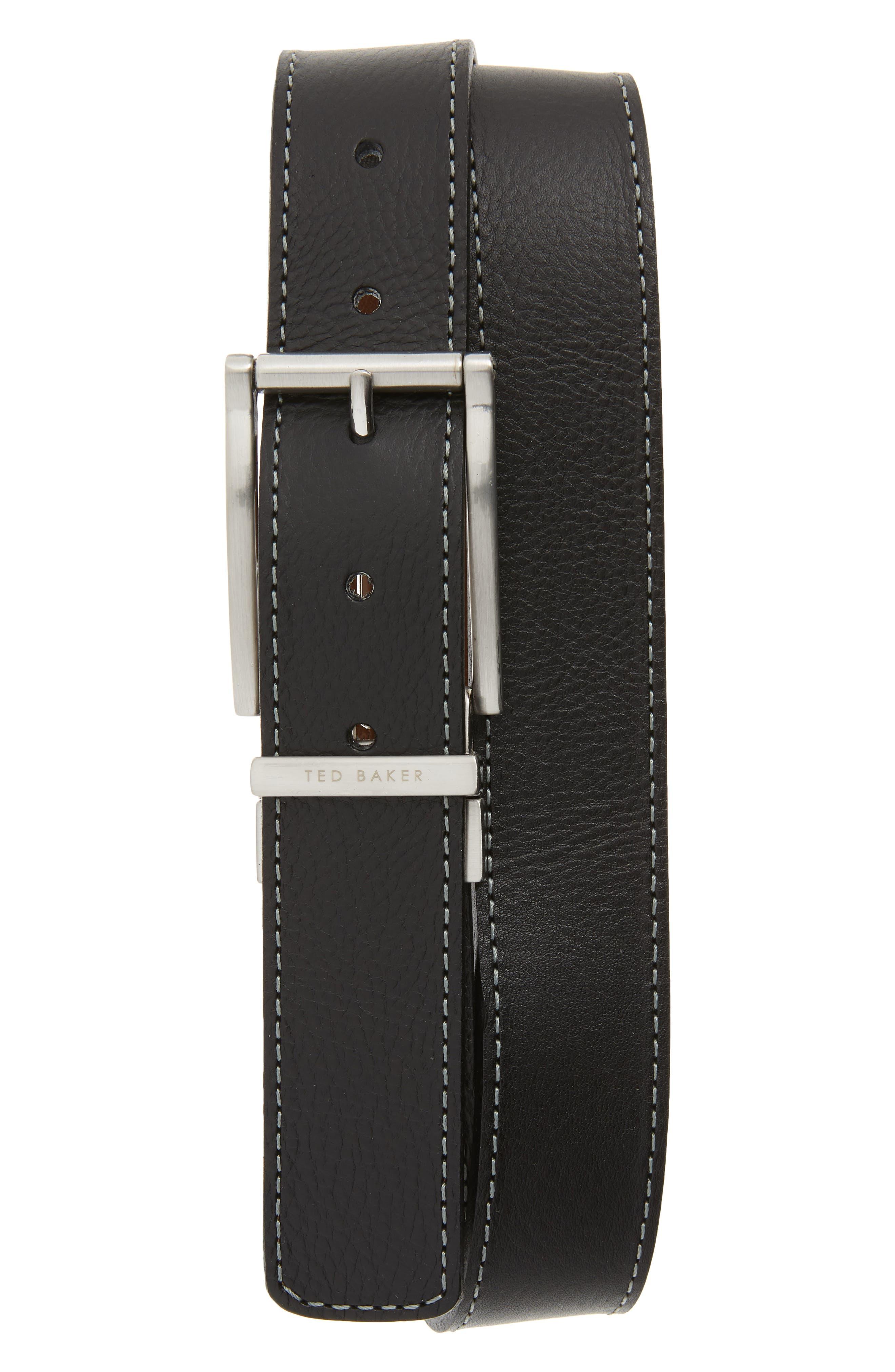 Ted Baker London Bream Reversible Belt, Black