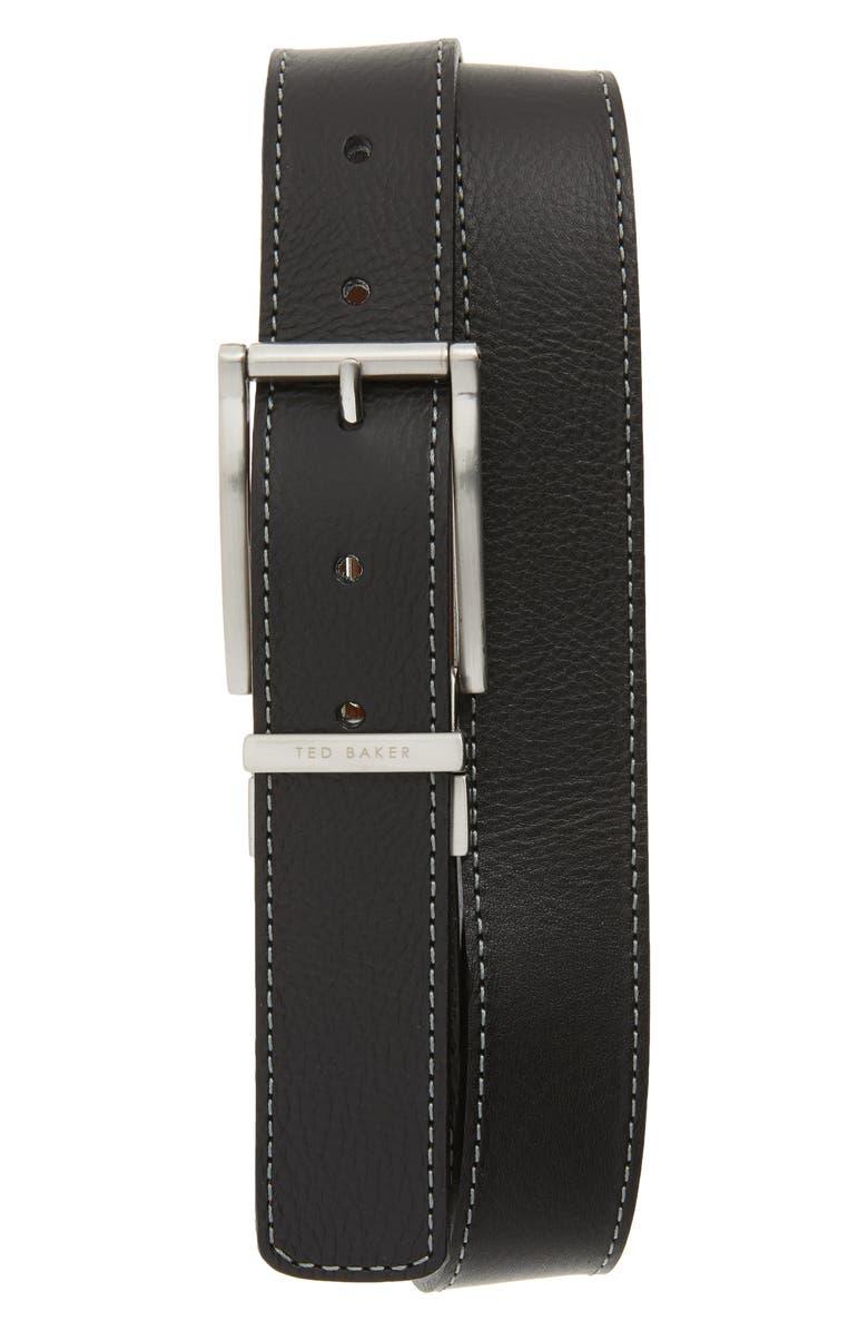 TED BAKER LONDON Bream Reversible Belt, Main, color, BLACK