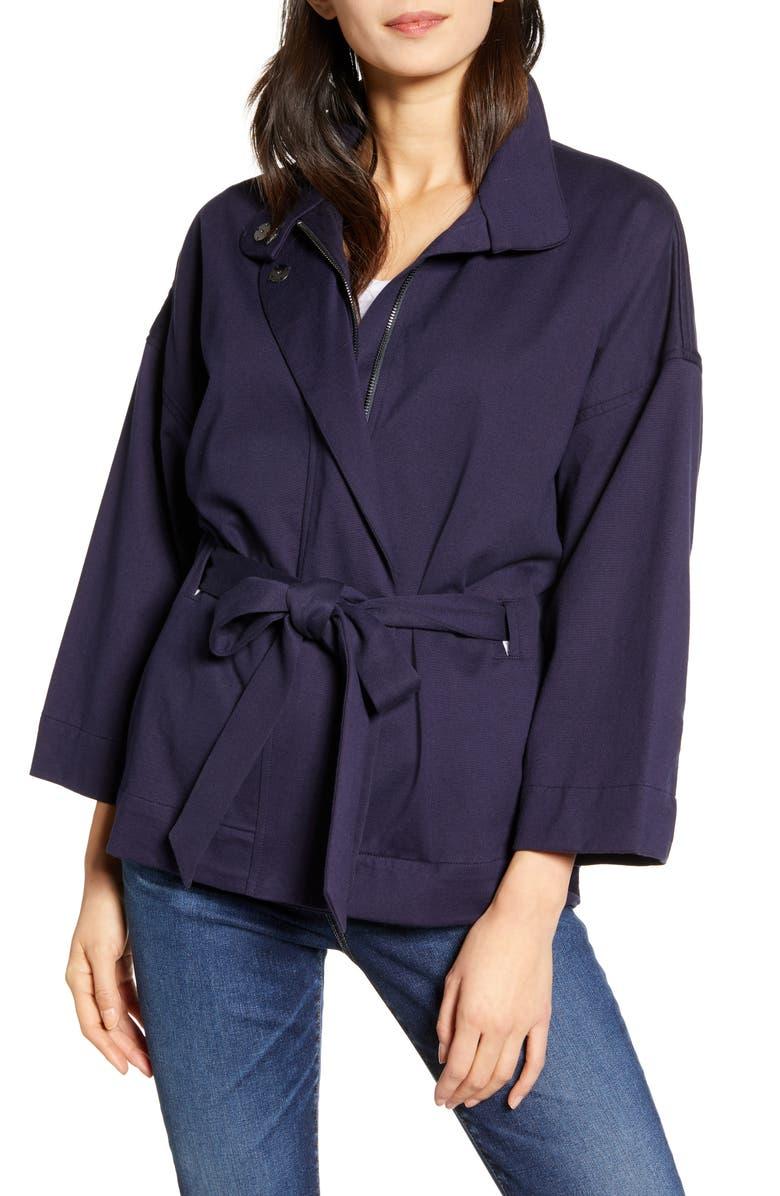 AG Kahlen Belted Jacket, Main, color, INDIGO INK