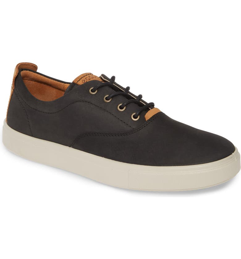 ECCO Kyle Sneaker, Main, color, BLACK LEATHER