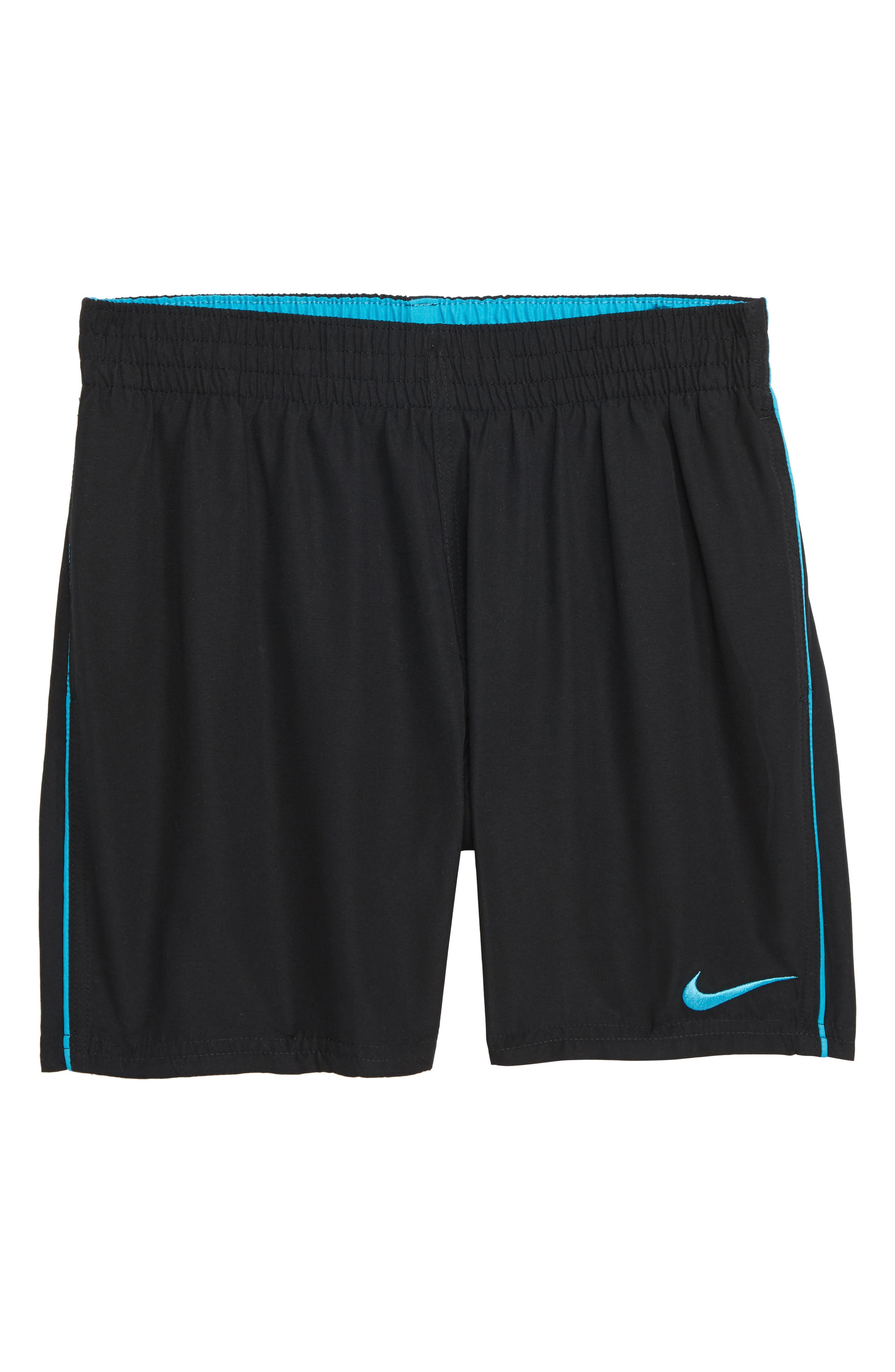 Lap Volley Swim Trunks, Main, color, BLACK
