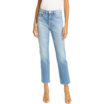 Frame Le Sylvie High Waist Slender Straight Leg Jeans, Blue
