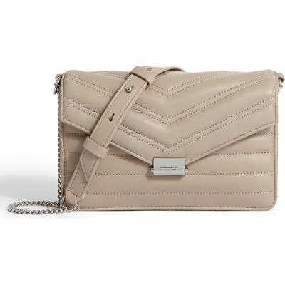 Allsaints Small Justine Quilted Leather Crossbody Bag - Beige