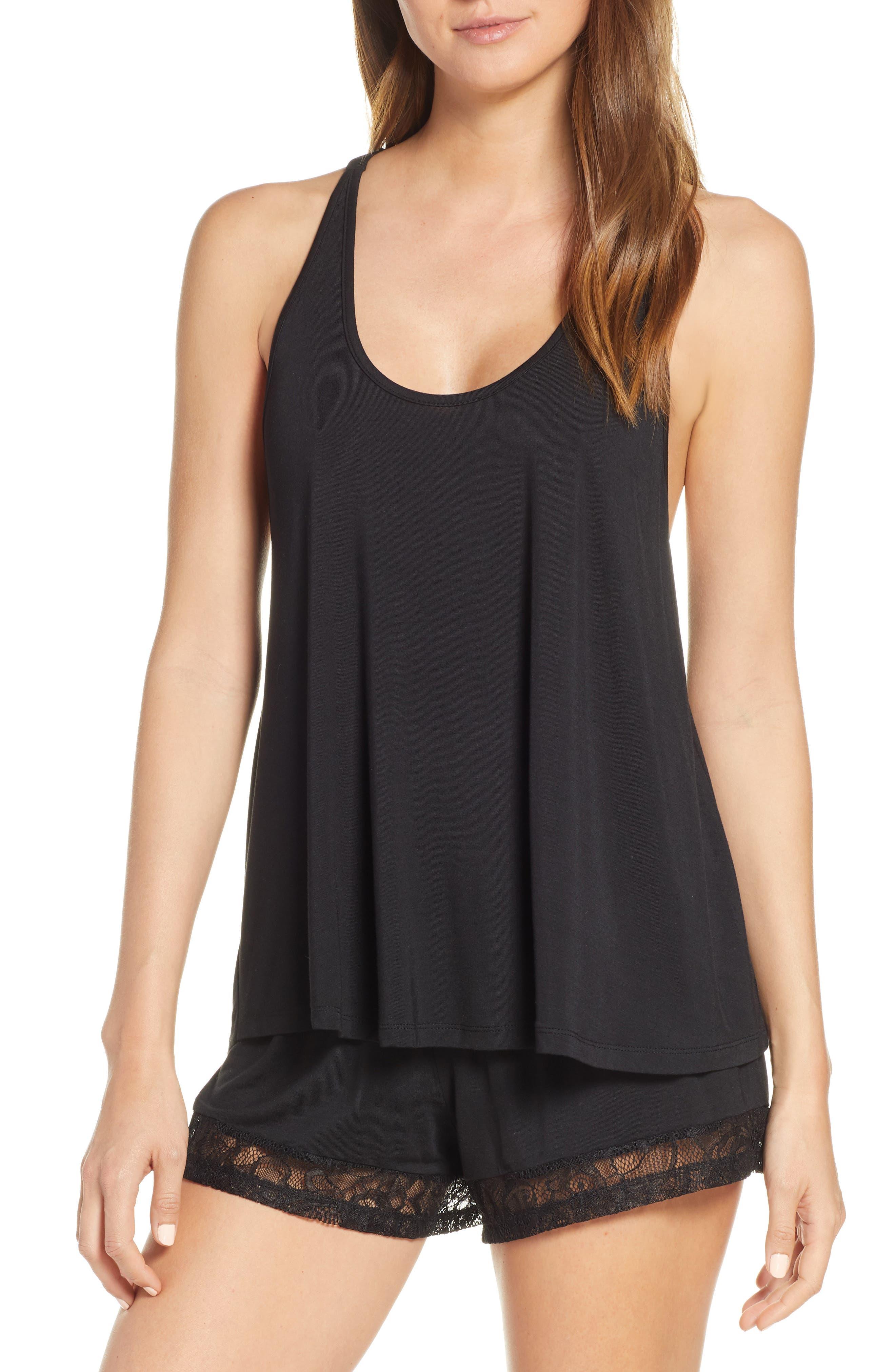 Flora Nikrooz Stephanie Short Pajamas, Black