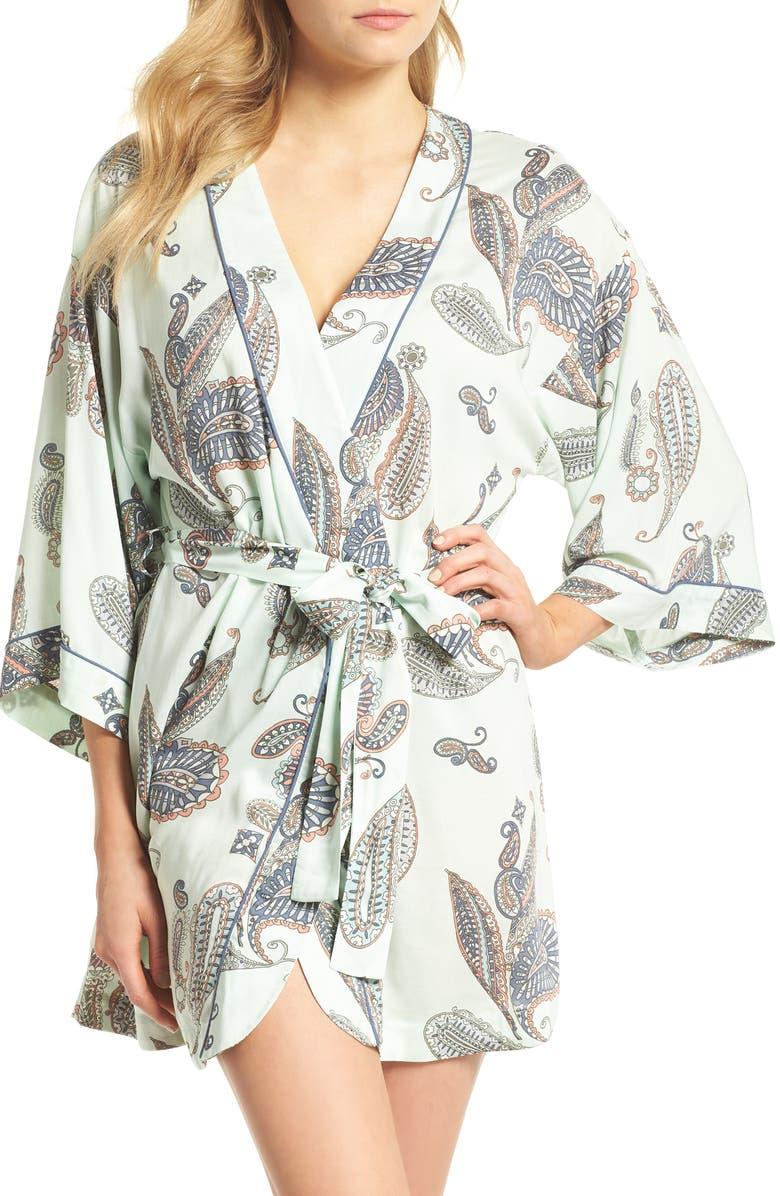 NORDSTROM LINGERIE Sweet Dreams Short Robe, Main, color, 330
