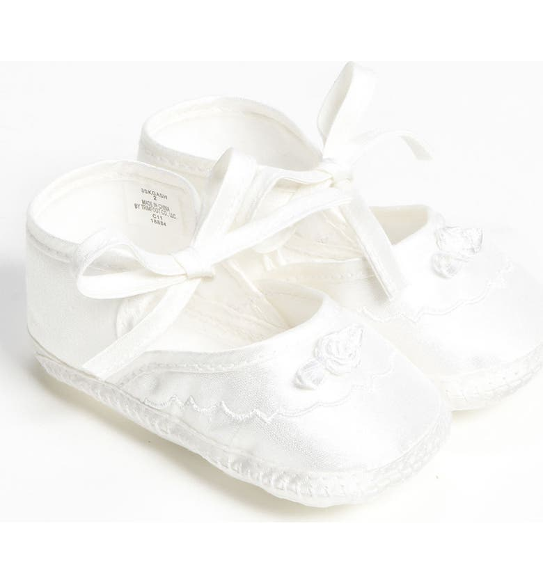 LITTLE THINGS MEAN A LOT Silk Dupioni Shoe, Main, color, WHITE