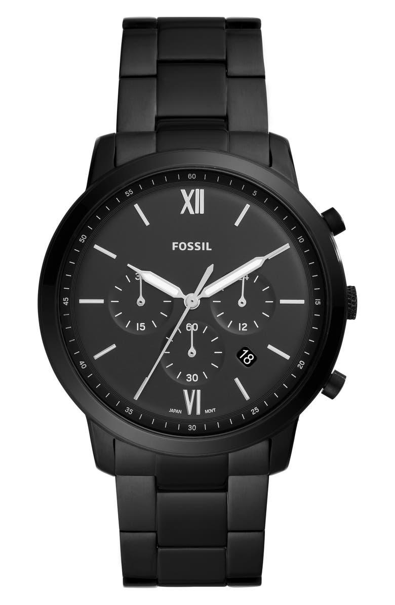 FOSSIL Neutra Chronograph Bracelet Watch, 44mm, Main, color, 001