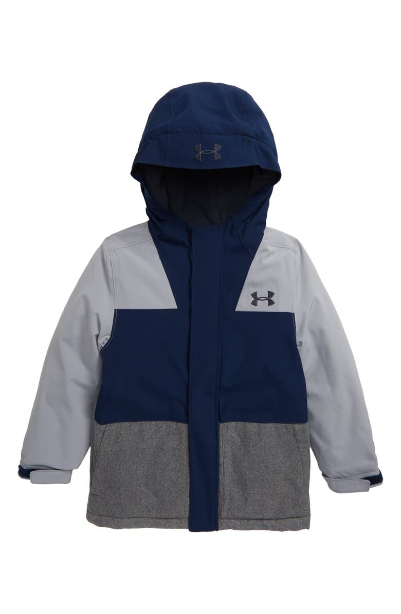 UNDER ARMOUR Slate Quarry ColdGear<sup>®</sup> Waterproof Insulated Hooded Jacket, Main, color, ACADEMY