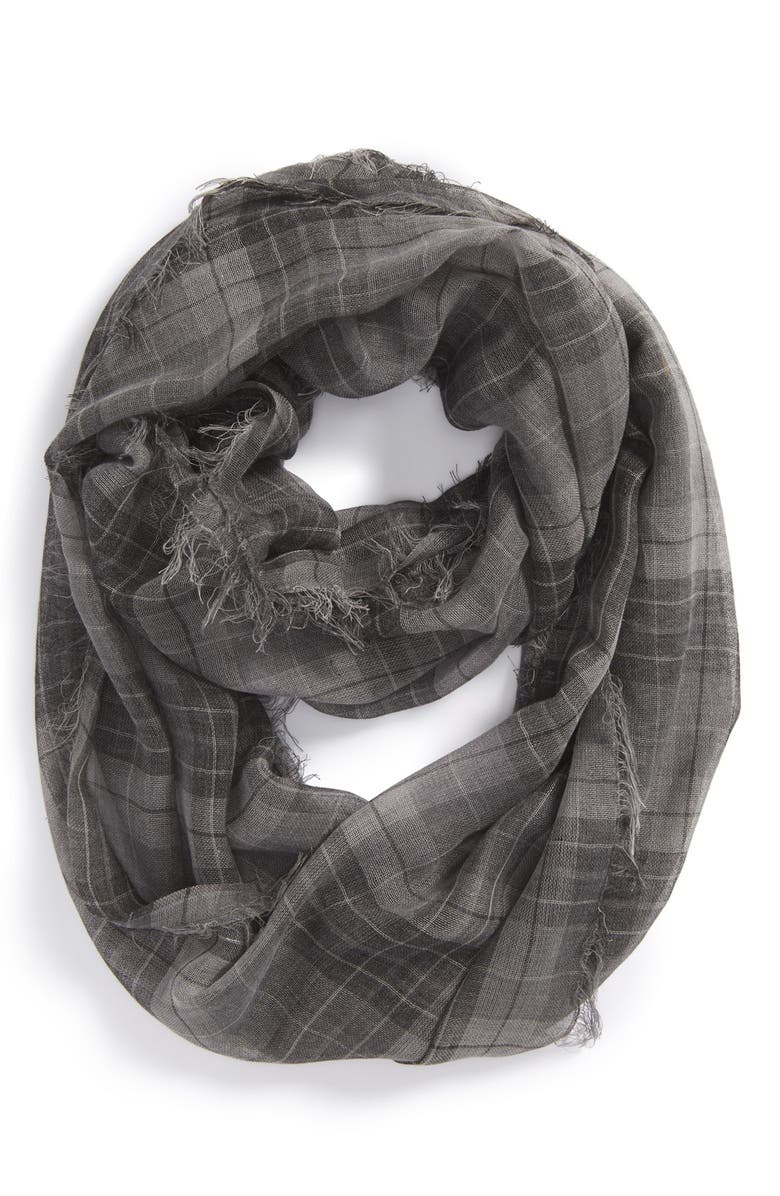 BP. Vintage Plaid Infinity Scarf, Main, color, 001