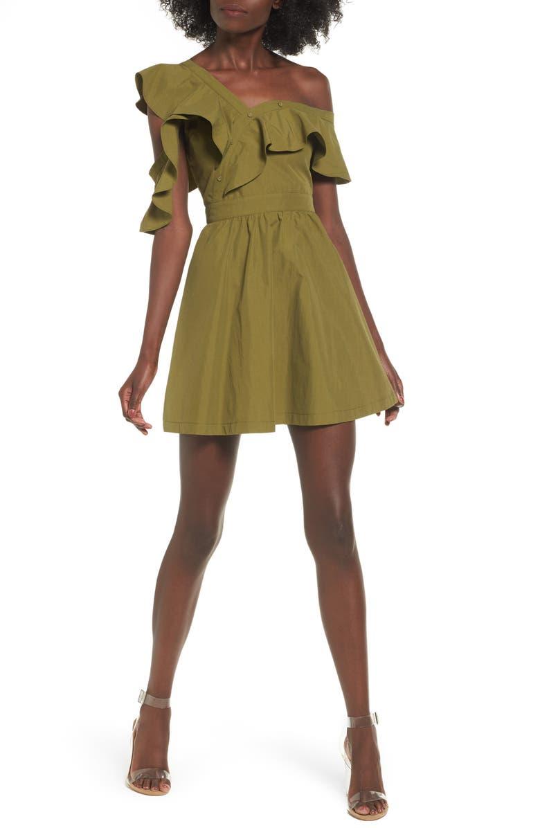 J.O.A. Ruffle Dress, Main, color, 300
