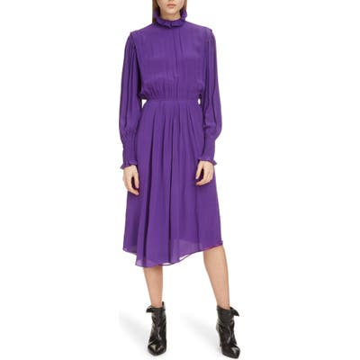 Isabel Marant Etoile Yescott Asymmetrical Hem Dress, Purple