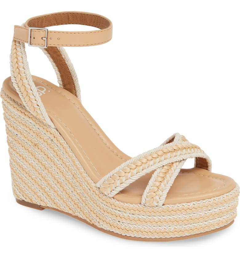 BP. Gabby Woven Wedge Sandal, Main, color, NATURAL WOVEN
