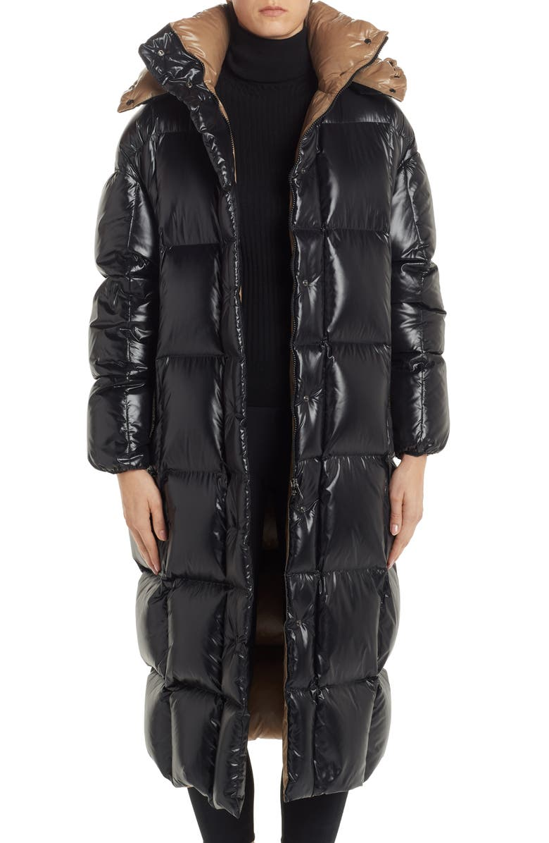 MONCLER Parnaiba Long Quilted Down Puffer Coat, Main, color, 001