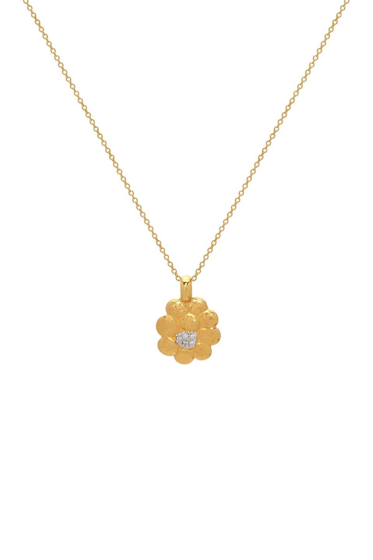 Image of Gurhan 22K Gold Pebble Diamond Pendant Necklace - 0.035 ctw