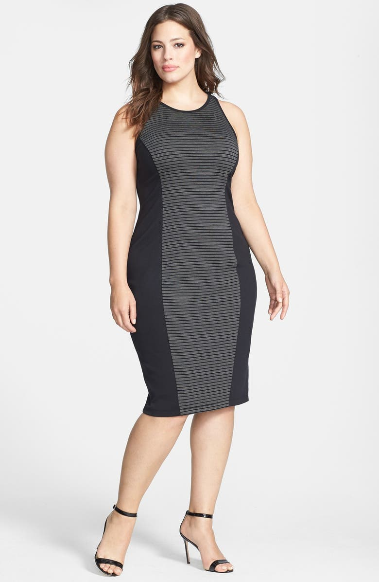 BB Dakota \'Nita\' Ponte Knit Midi Dress (Plus Size) | Nordstrom