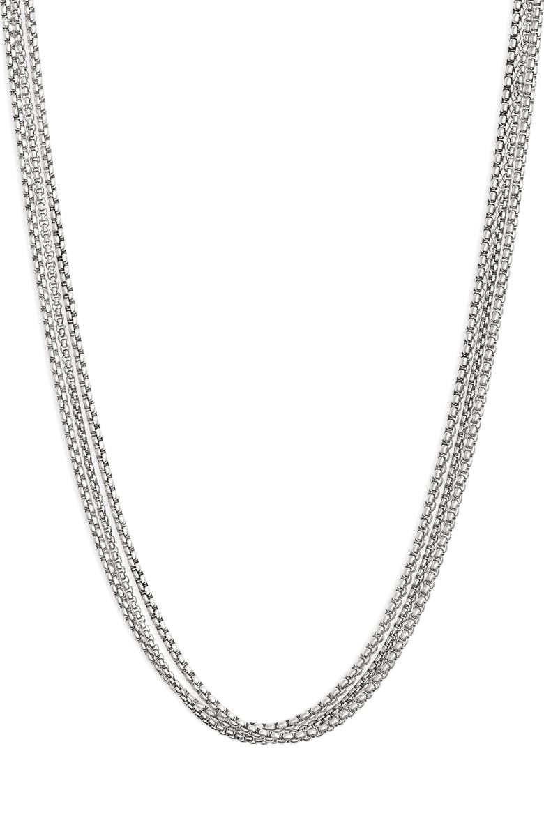 JENNY BIRD Billie Layered Chain Necklace, Main, color, SILVER
