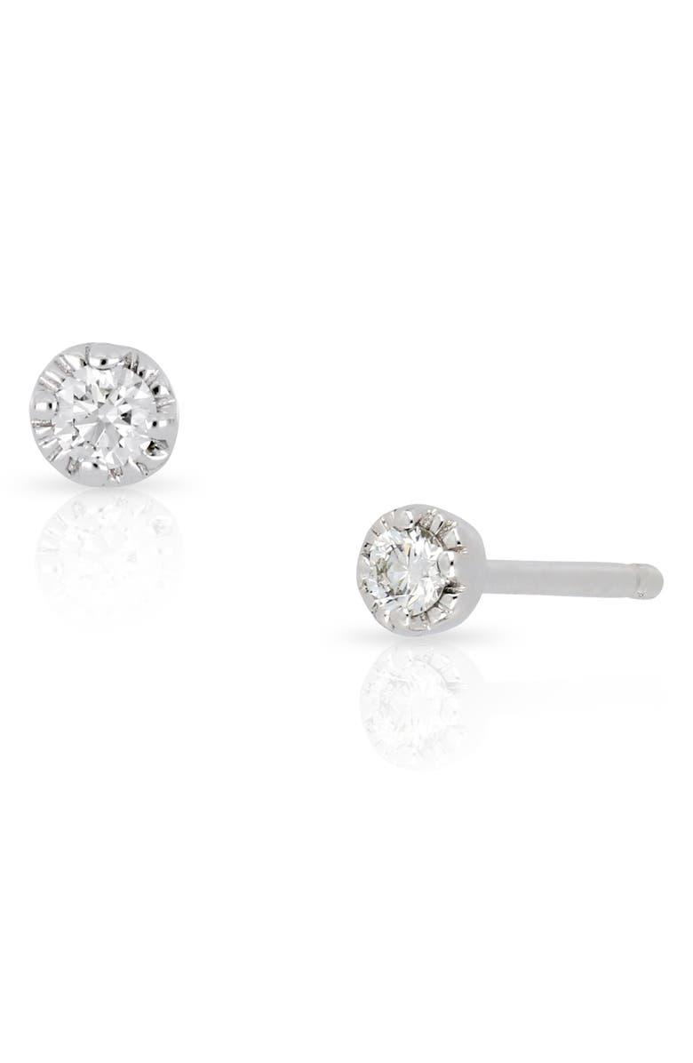 BONY LEVY Mila Diamond Stud Earrings, Main, color, WHITE GOLD