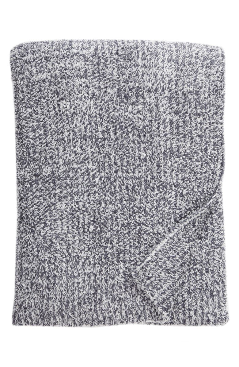 BAREFOOT DREAMS<SUP>®</SUP> Cozychic<sup>®</sup> Heathered Throw Blanket, Main, color, PACIFIC BLUE/ WHITE