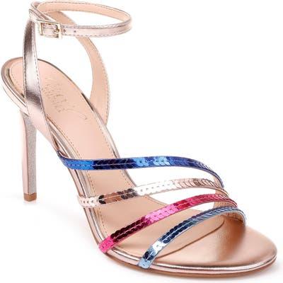 Jewel Badgley Mischka Devonee Sequin Sandal- Pink