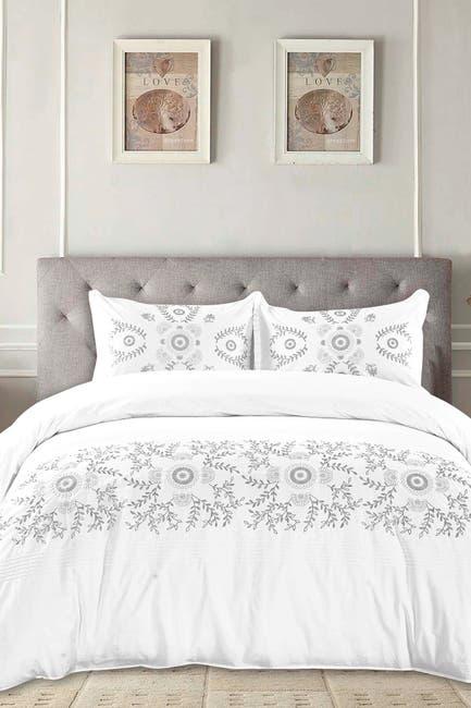 Image of Melange Home Full/Queen Midas Embroidered Duvet 3-Piece Set