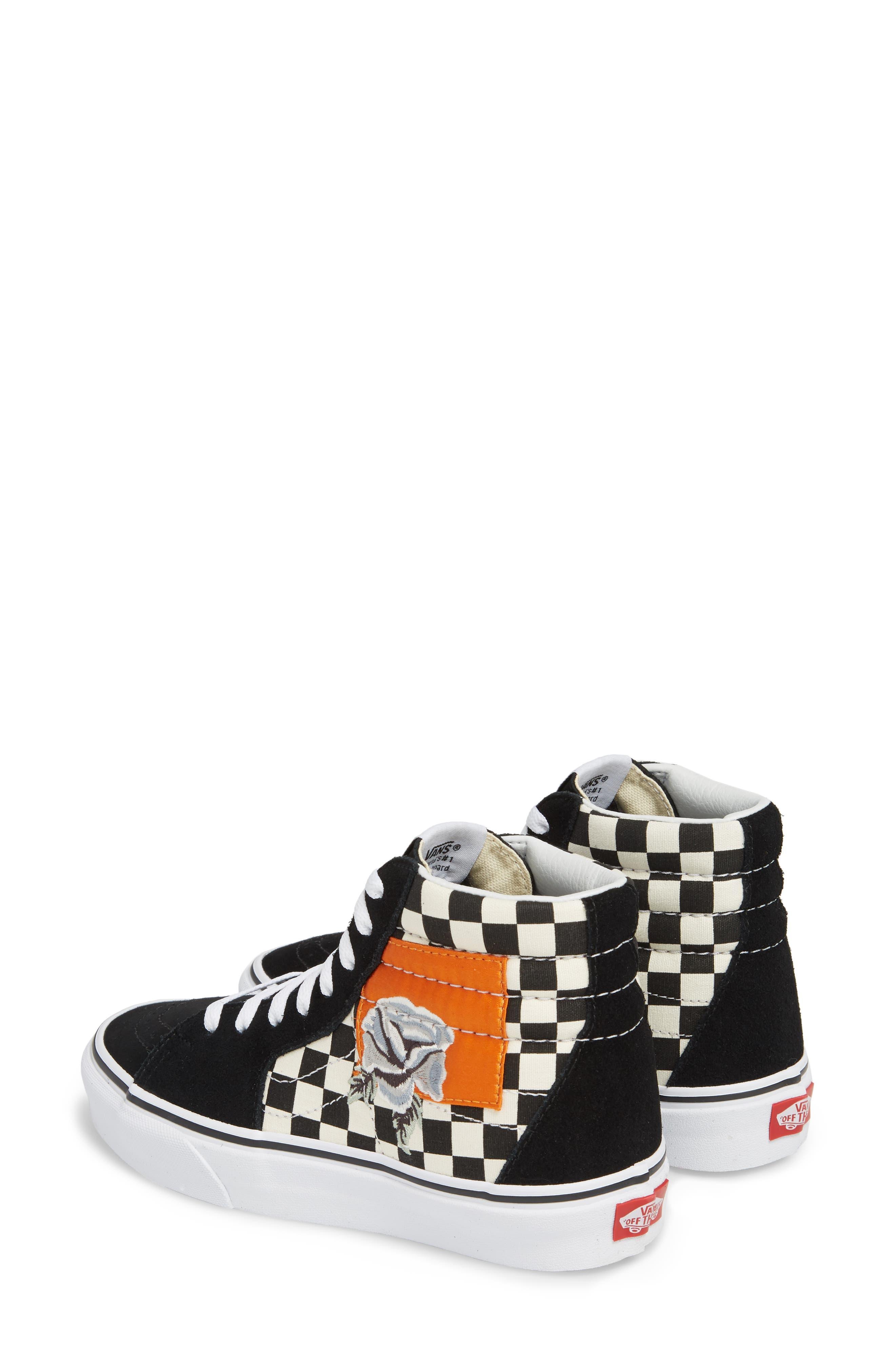 ,                             Sk8-Hi Checker Sneaker,                             Alternate thumbnail 3, color,                             003