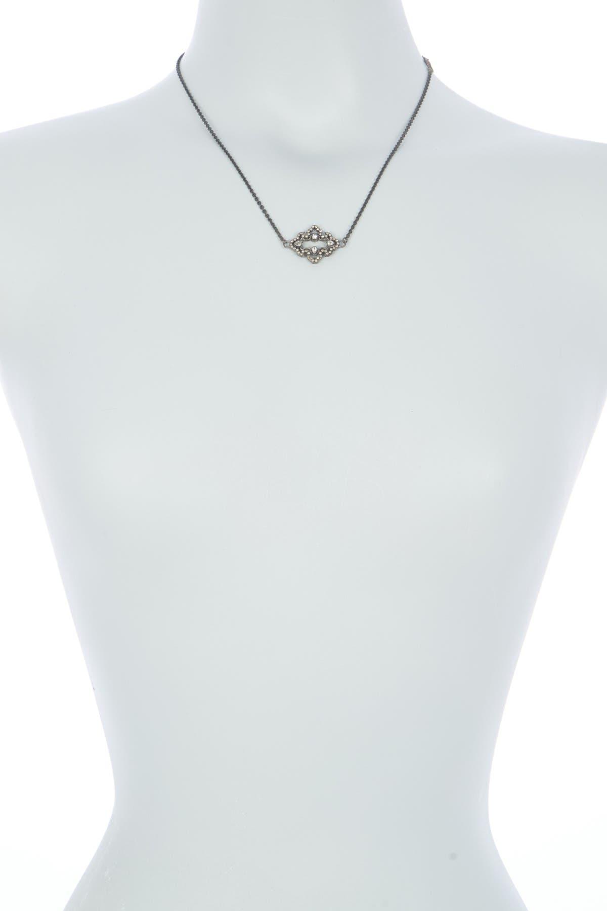 Image of ARMENTA Old World All Midnight Diamond Pendant Necklace - 0.37 ctw