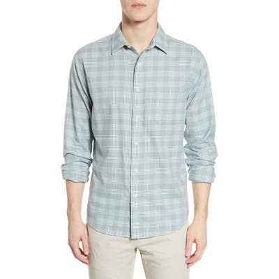 Faherty Everyday Check Button-Up Shirt, Green