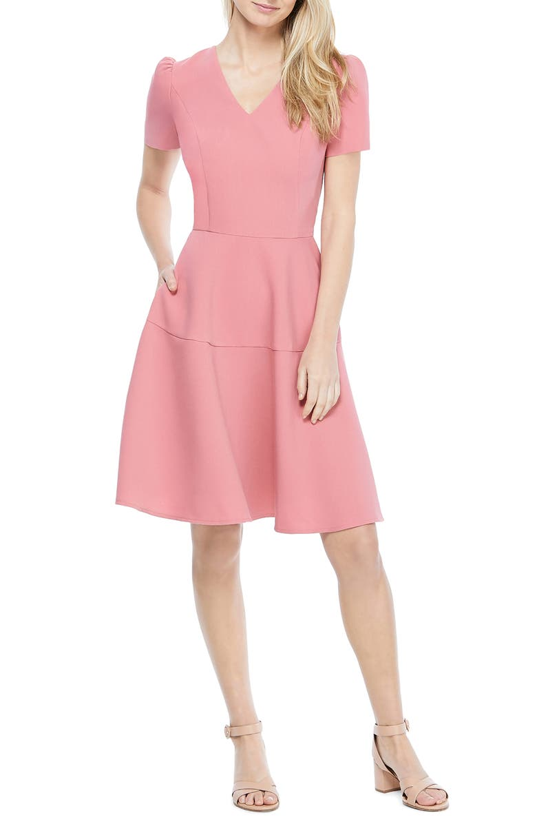 V Neck Fit and Flare Party Dress | Ever-Pretty #