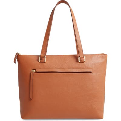 Nordstrom Lexa Pebbled Leather Tote - Brown