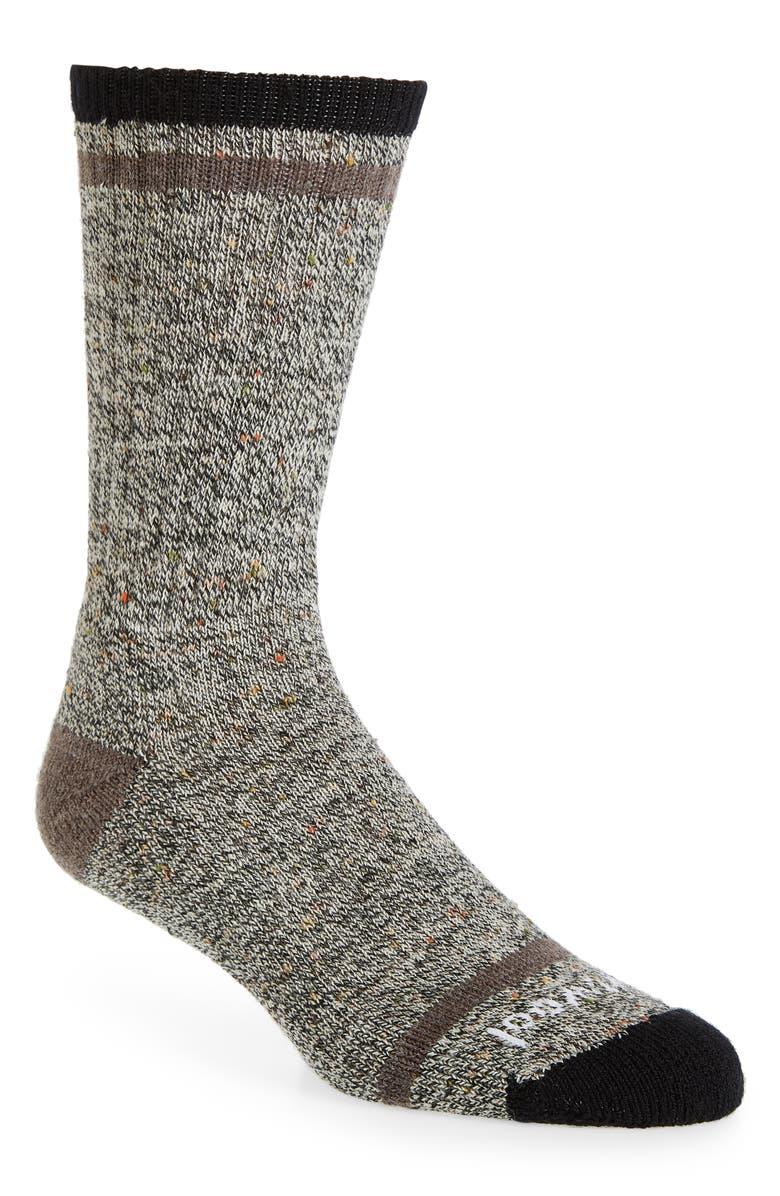 SMARTWOOL Larimer Merino Wool Blend Socks, Main, color, BLACK-TAUPE HEATHER