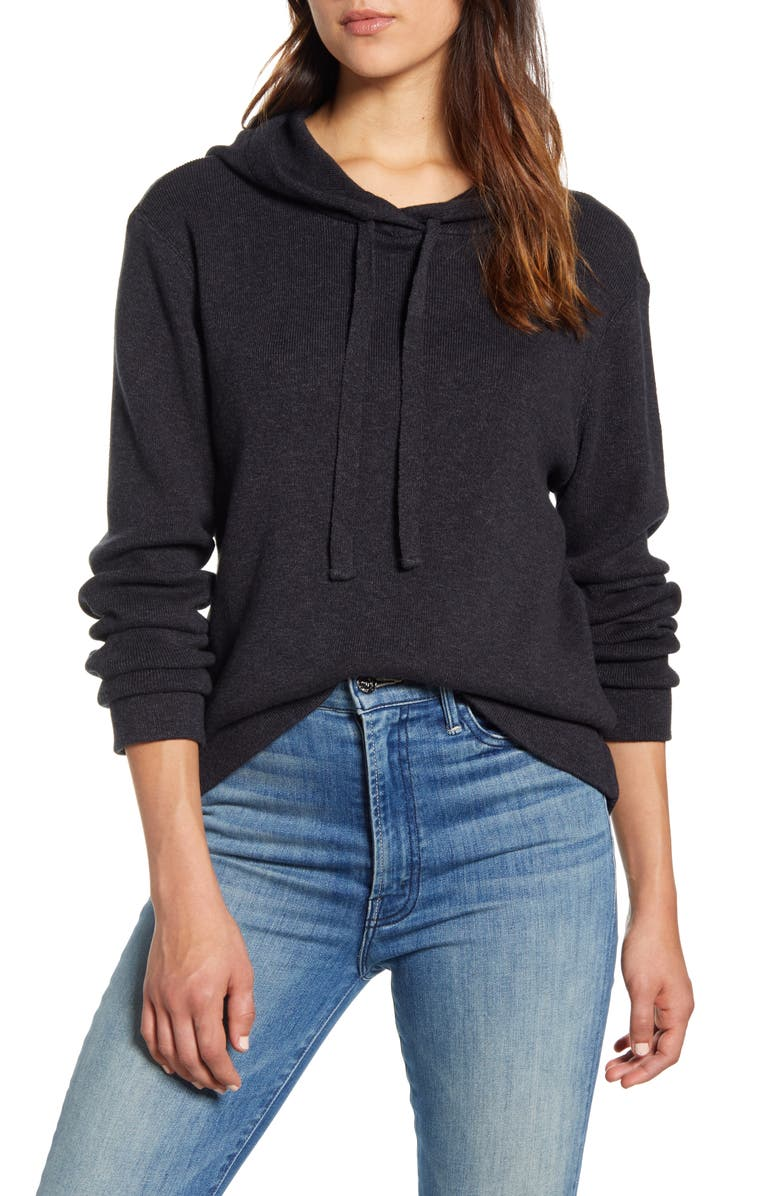 LUCKY BRAND Marled Hoodie, Main, color, 001
