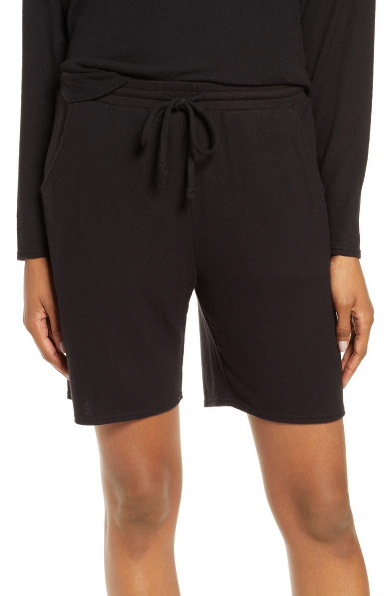 NORDSTROM Lingerie Lounge Shorts, Main, color, 001