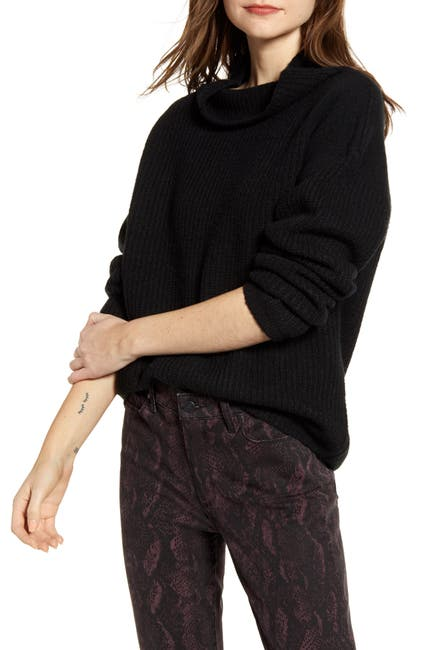 Image of Chelsea28 Rib Funnel Neck Sweater